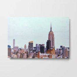 New York City // Retro 3 Metal Print