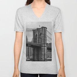 Brooklyn Bridge of New York Unisex V-Neck