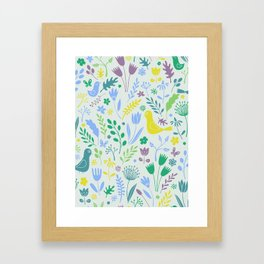 Papercut Meadow - light Framed Art Print