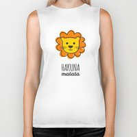 the lion king Biker Tanks featuring Lion & King by Jane Mathieu