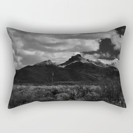 Dramatic Clouds over Mountain Range in Big Bend Rectangular Pillow