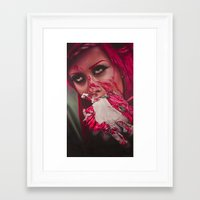 cake Framed Art Prints featuring Cake  by kellyeden