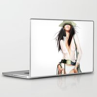 cowboy Laptop & iPad Skins featuring cowboy by tatiana-teni