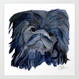 Pekingese Dog love... Art Print