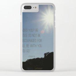 Joshua 1:9 Clear iPhone Case