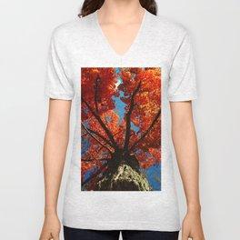 Trees on Fire Unisex V-Neck