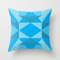 jack frost Throw Pillows featuring Jack Frost by Charlotte Miller