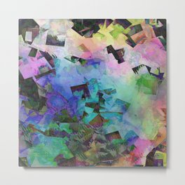 Colorful Geometric Freefall Metal Print