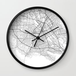 Minimal City Maps - Map Of San Jose, California, United States Wall Clock