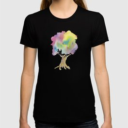 Dreaming tree - watercolor and ink whimsical illustration T-shirt