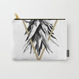 Pineapple Upside Down Geo #1 #tropical #fruit #decor #art #society6 Carry-All Pouch