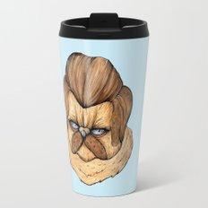 Ron Swanson Cat Travel Mug