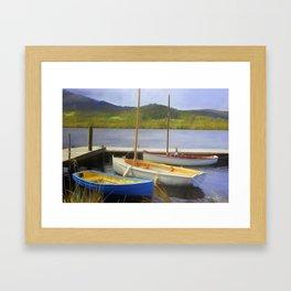 Little Boats On The Huon Framed Art Print
