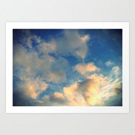 golden cloud. Art Print