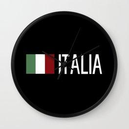 Italy: Italia & Italian Flag Wall Clock