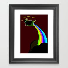 Happy Unicorn Framed Art Print