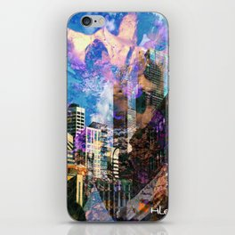 """""""Angels Over the City"""" iPhone Skin"""