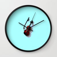 violin Wall Clocks featuring Violin by Vitta