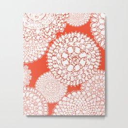 Delightful Doilies - Saffron Metal Print