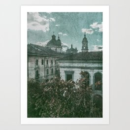 Colonial Architecture at Historic Center of Bogota Colombia Art Print
