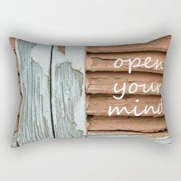 open your mind Rectangular Pillow