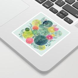 Succulent Circles Sticker