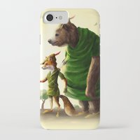 robin hood iPhone & iPod Cases featuring Robin Hood & Little John by Jehzbell Black