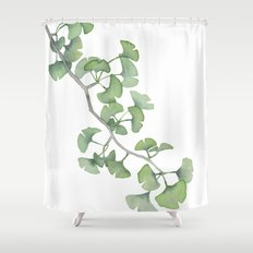 GINKGO, painting by Frank-Joseph Shower Curtain