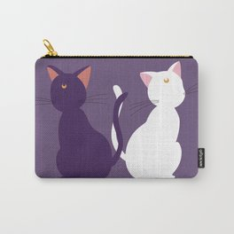 Luna & Artemis (Minimalist) - Purple Carry-All Pouch