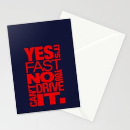 Yes it's fast No you can't drive it v5 HQvector Stationery Cards
