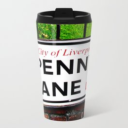 liverpool England famous penny Lane sign Metal Travel Mug