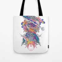 psych Tote Bags featuring Psych by Sushibird