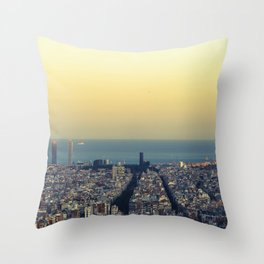 Barcelona view Throw Pillow
