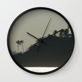 Palm Trees on Monkey Island Wall Clock
