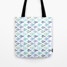 Swimming to Maldives || watercolor Tote Bag