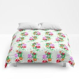 Funky Mushroom Pattern Comforters