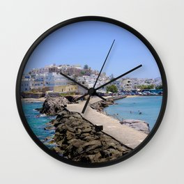 Beautiful Naxos Island in Greece Wall Clock