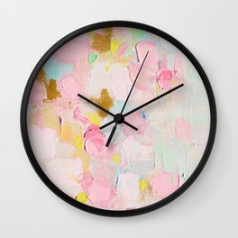 Cotton Candy Dreams Wall Clock