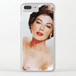 Ava Gardner, Actress Clear iPhone Case