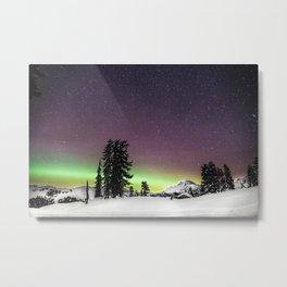 Elfin Lake Aurora Metal Print