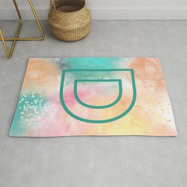 Initial D the letter D Rug