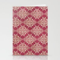 damask Stationery Cards featuring Damask by Arcturus