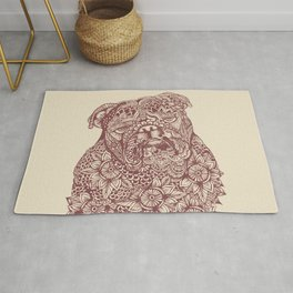 MANDALA OF ENGLISH BULLDOG Rug