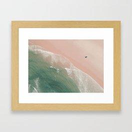 Life is peachy at the beach Framed Art Print