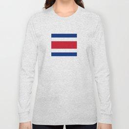 Flag of Costa rica -Costa rican, tico,San José ,Puerto Limón ,Alajuela, heredia. Long Sleeve T-shirt