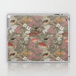 Fishes & Flowers - Seamless pattern Laptop & iPad Skin