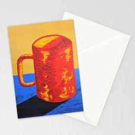 The Morning Cup of Coffee - art mug yellow red blue Caffè Americano Café Latte Cappuccino Espresso Stationery Cards