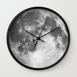 Full Moon print black-white photograph new lunar eclipse poster bedroom home wall decor Wall Clock