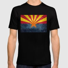 Arizona state flag - vintage retro style Mens Fitted Tee LARGE Black