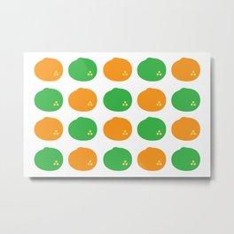 Orange and Lime Metal Print